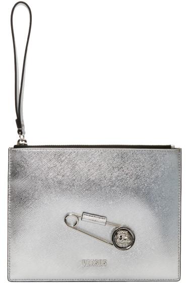 Versus - Silver Pin Zip Pouch