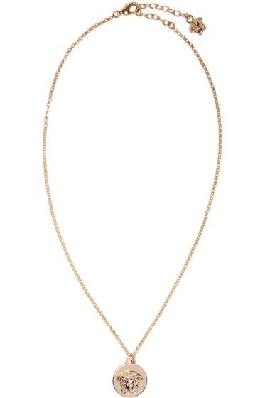 Versace - Gold Medusa Coin Necklace