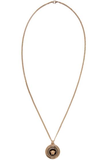 Versace - Gold Enamel Medusa Necklace