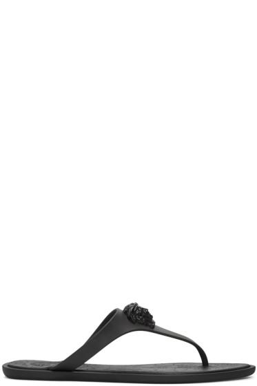 Versace - Black Medusa Sandals