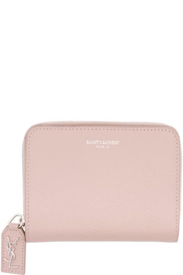 Saint Laurent - Pink Rive Gauche Compact Zip Wallet