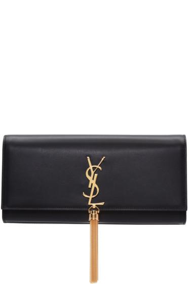 Saint Laurent - Black Leather Kate Tassel Clutch