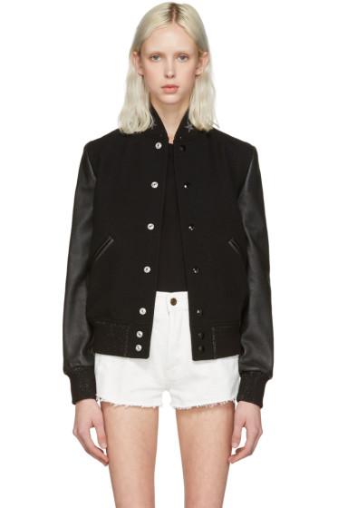 Saint Laurent - Black Teddy America Bomber Jacket