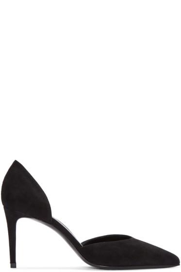 Saint Laurent - Black Suede Paris Skinny D'Orsay Heels