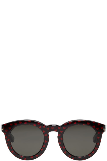 Saint Laurent - Black Glitter Hearts SL 102 Sunglasses