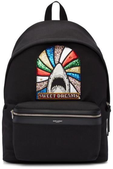 Saint Laurent - Black 'Sweet Dreams' Shark Backpack