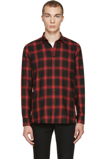 Saint Laurent - Black & Red Check Shirt