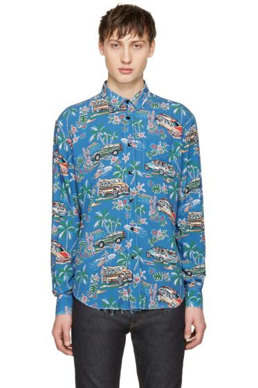 Saint Laurent - Blue Car Shirt