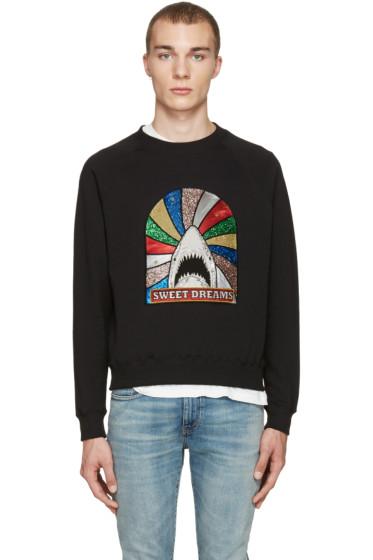 Saint Laurent - Black Sweet Dreams Shark Sweatshirt