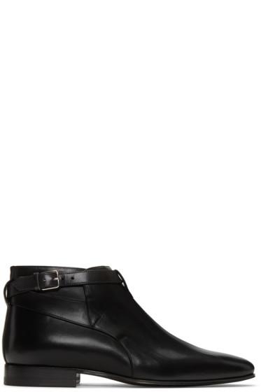 Saint Laurent - Black Leather London Boots