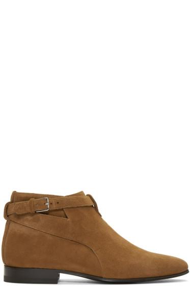 Saint Laurent - Brown Suede London Boots