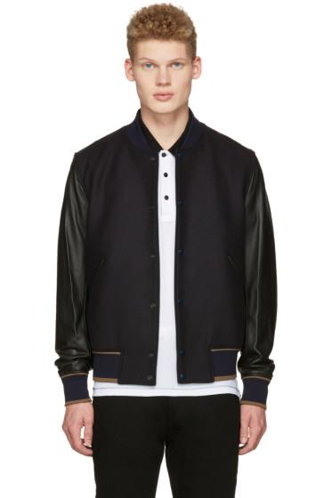 PS by Paul Smith - Navy & Black Varsity Bomber Jacket
