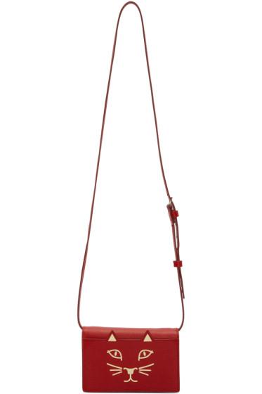 Charlotte Olympia - Red Feline Bag