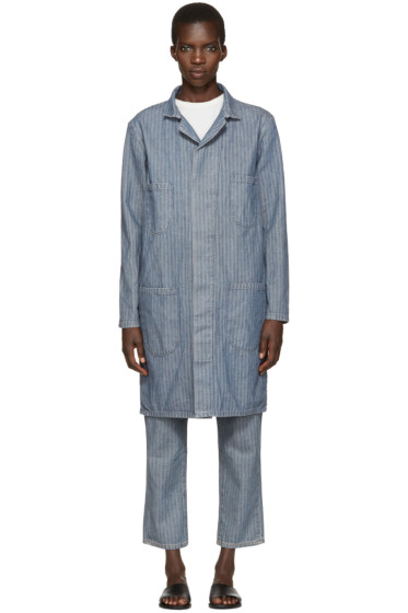 6397 - Indigo Herringbone Denim Work Coat