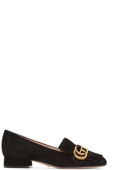 Gucci - Black Fringe Marmont Loafer