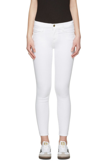 Frame Denim - White Le Color Crop Jeans