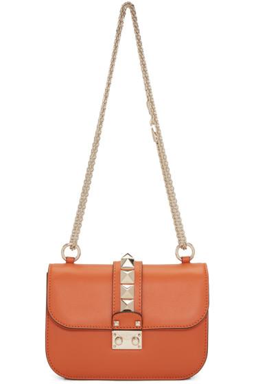 Valentino - Orange Small Lock Bag