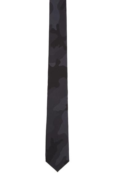 Valentino - Black Silk Camo Tie