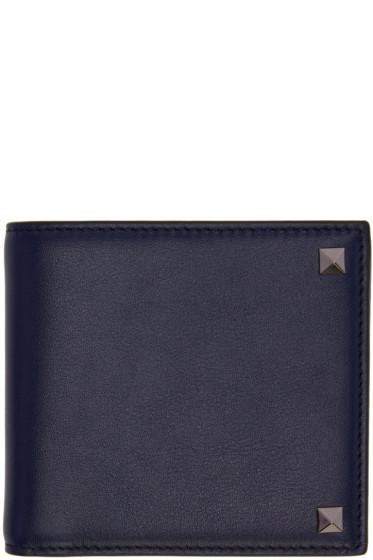 Valentino - Navy Big Rockstud Wallet