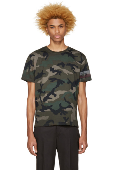 Valentino - Green Authentic Camo T-Shirt