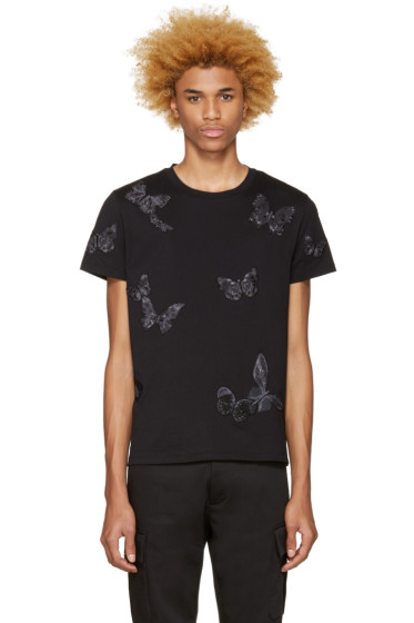 Valentino - Black Butterflies T-Shirt