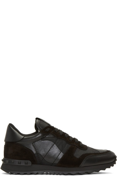 Valentino - Black Camo Rockrunner Sneakers