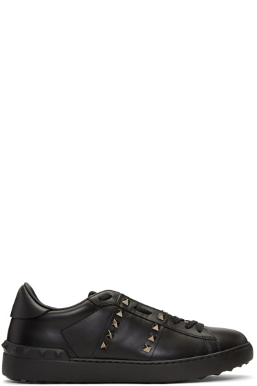 Valentino - Black 'Rockstud Untitled' Noir Sneakers