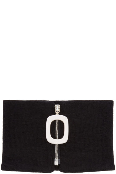 J.W.Anderson - Black Merino Neck Band
