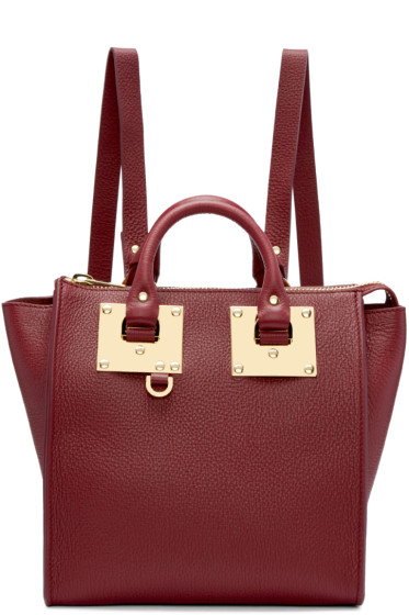 Sophie Hulme - Burgundy Small Holmes Backpack