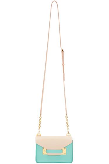 Sophie Hulme - SSENSE Exclusive Pink & Blue Nano Milner Crossbody Bag