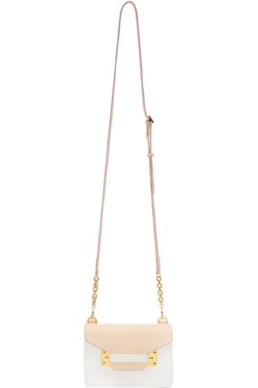 Sophie Hulme - SSENSE Exclusive Pink & Ivory Nano Milner Crossbody Bag