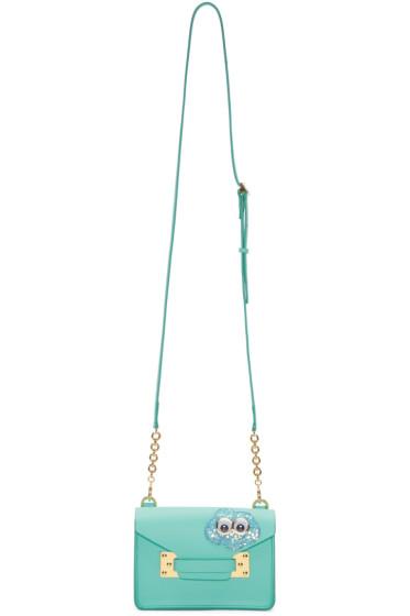 Sophie Hulme - SSENSE Exclusive Blue Glitter Cloud Nano Milner Crossbody Bag