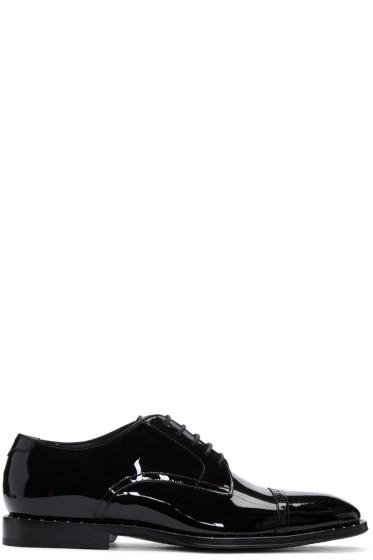 Jimmy Choo - Black Patent Leather Penn Oxfords