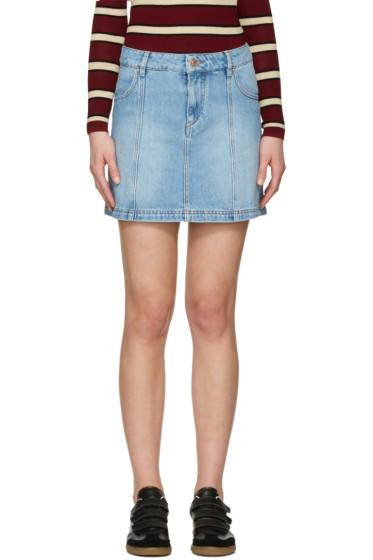 Isabel Marant Etoile - Blue Denim Candice Miniskirt
