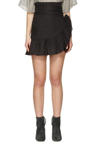 Isabel Marant Etoile - Black Dempster Wrap Skirt