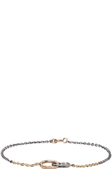 Pearls Before Swine - Silver & Gold Double Link Bracelet