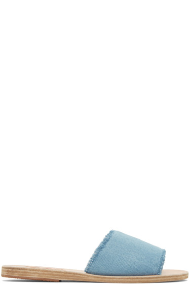 Ancient Greek Sandals - Blue Denim Taygete Sandals