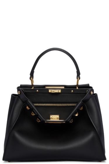 Fendi - Black Regular Studded Peekaboo Bag
