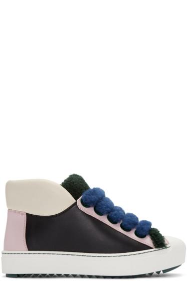 Fendi - Multicolor Shearling Sneakers