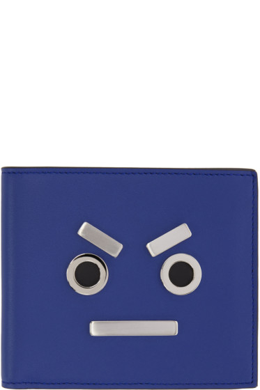 Fendi - Blue 'Fendi Faces' Wallet