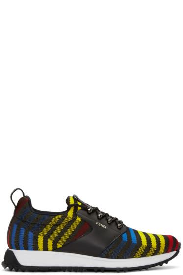 Fendi - Multicolor Zig Zag Sneakers