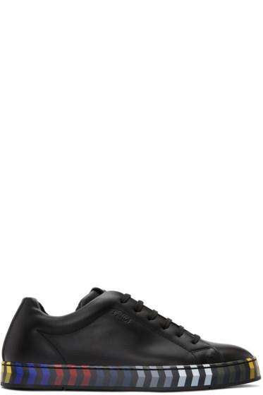 Fendi - Black Leather Sneakers