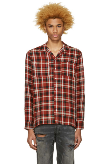 Palm Angels - Red Check Pyjama Shirt