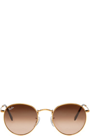 Ray-Ban - Gold Round Sunglasses
