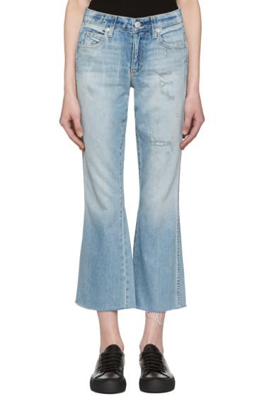 Amo - Blue Kick Crop Jeans