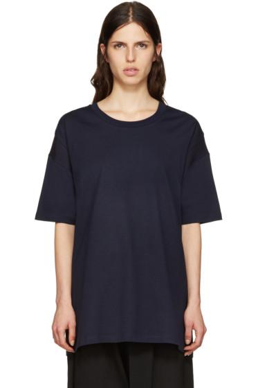 Y's - Navy All Needles Big T-Shirt
