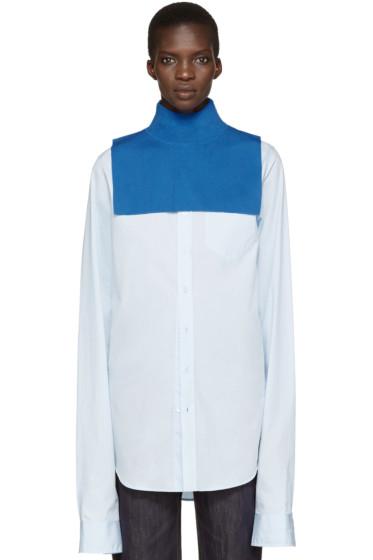 Enfold - Blue Wool Turtleneck Collar