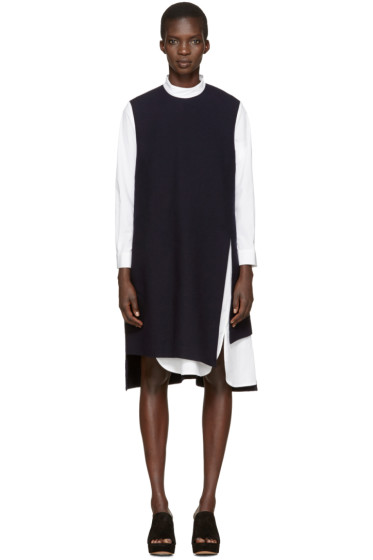 Enfold - Navy Layered Shirt Dress