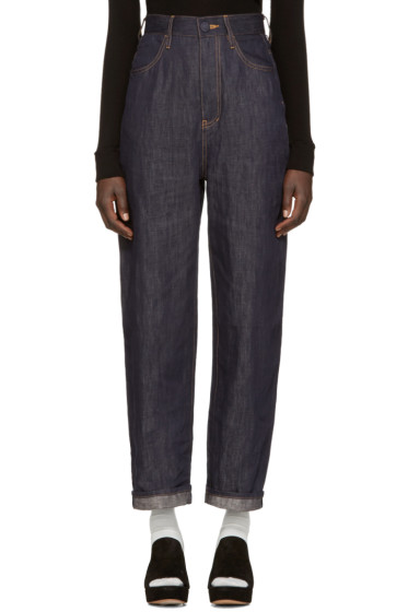 Enfold - Blue Wide-Leg Jeans