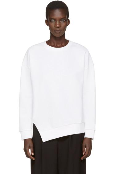 Enfold - White Twisted Sweatshirt